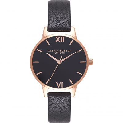 Black Dial Sunray Black & Rose Gold Watch