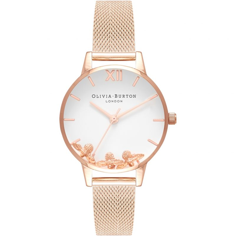 Busy Bees Rose Gold Mesh Watch OB16CH01 for £225