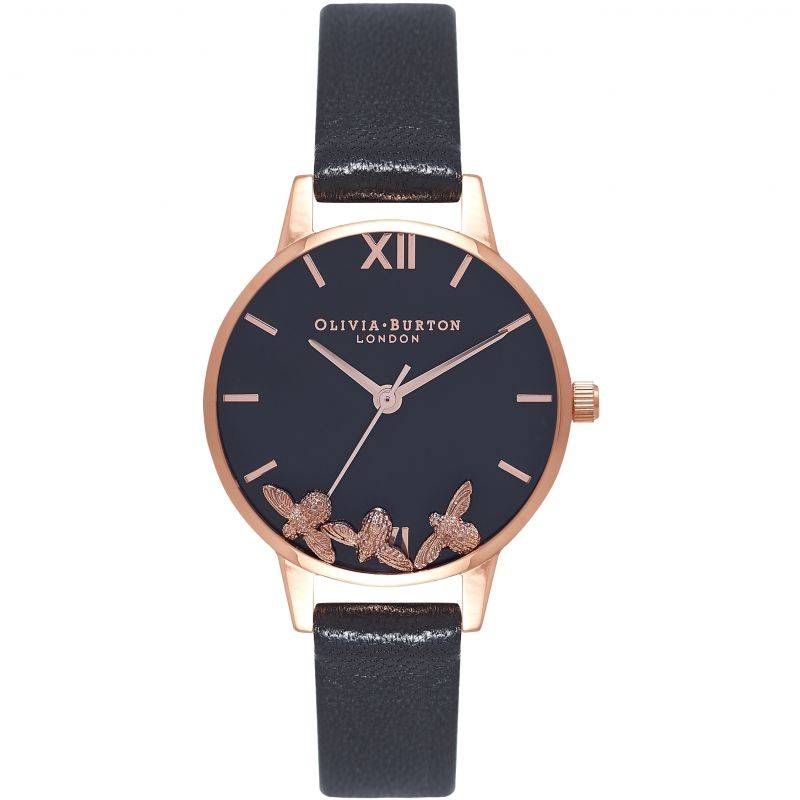 Busy Bees Black & Rose Gold Watch OB16CH06 for £200