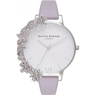 Case Cuffs Silver & Grey Lilac Watch