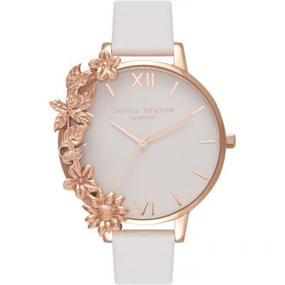 Olivia Burton The Wishing Watch The Wishing Watch Rose Gold & Blush Damenuhr in Grauweiß OB16CB06