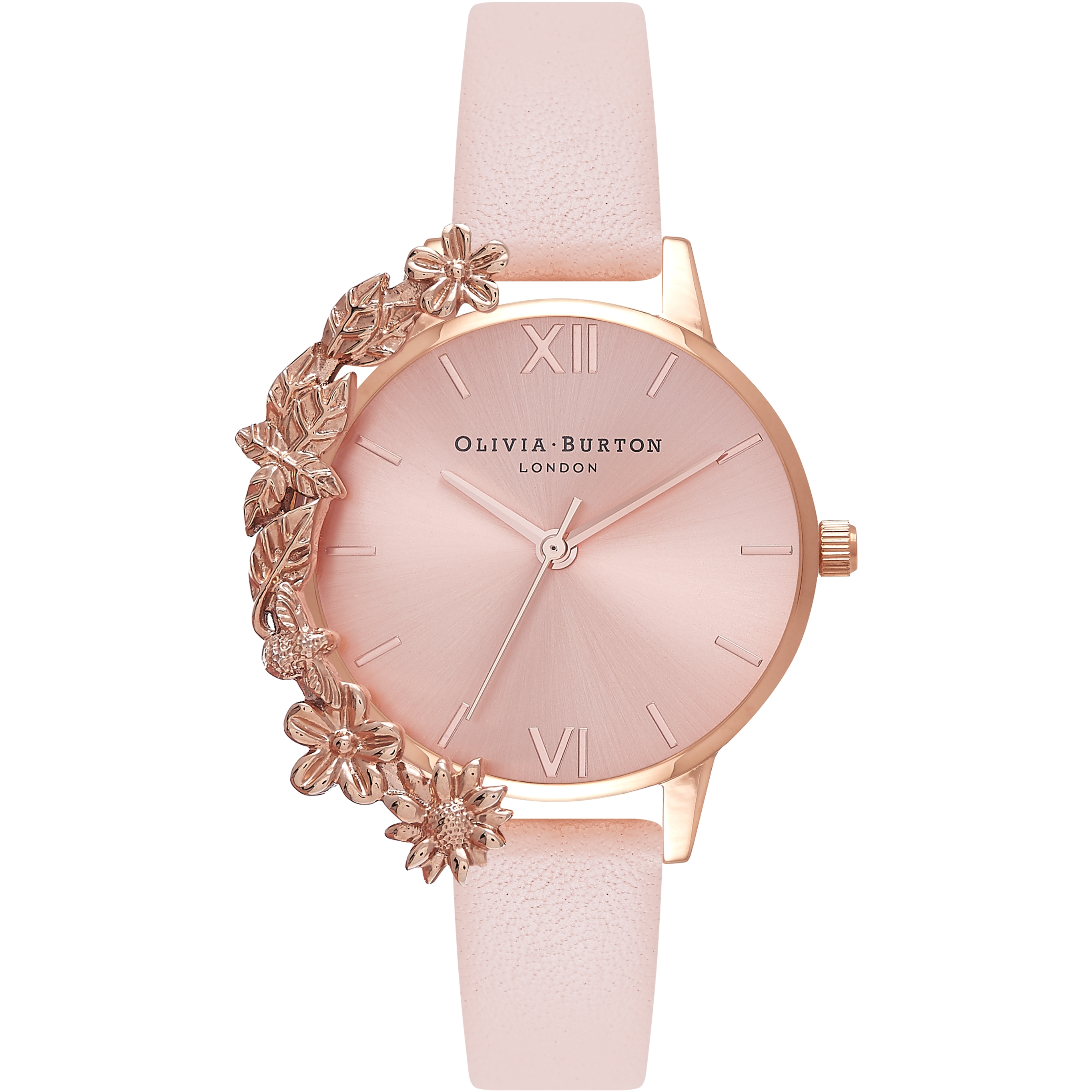womens watch rose in pink patent normal peach lyst product accessories glitter guess gallery leather strap watches