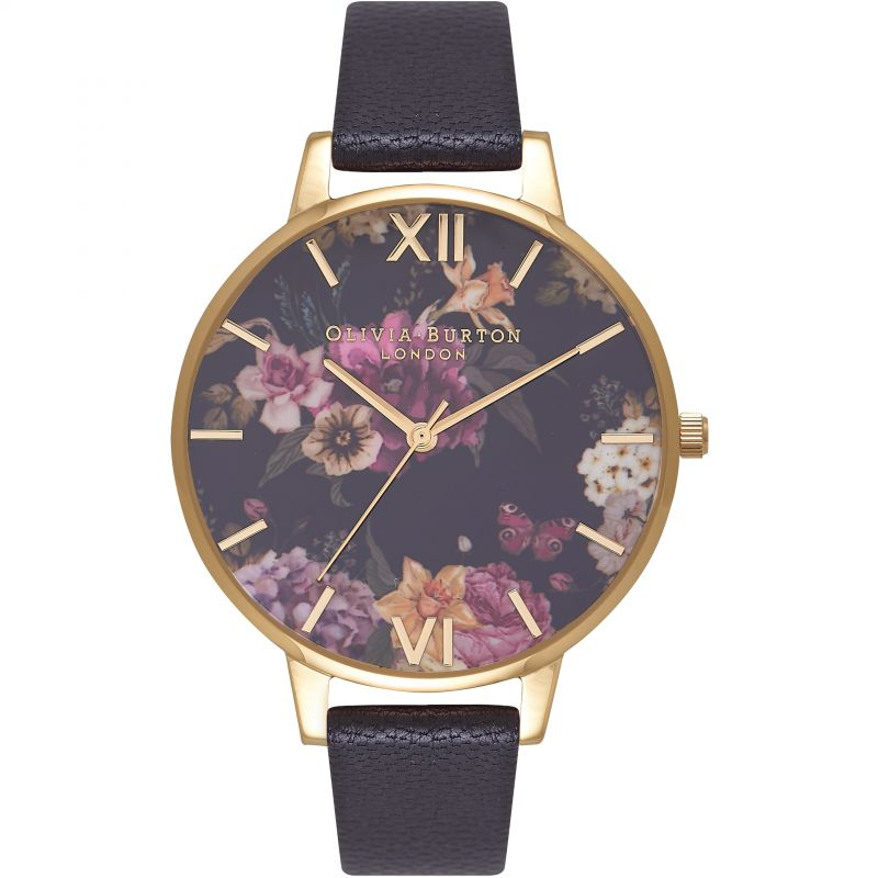 Dark Bouquet Black & Gold Watch OB16EG78 for £82