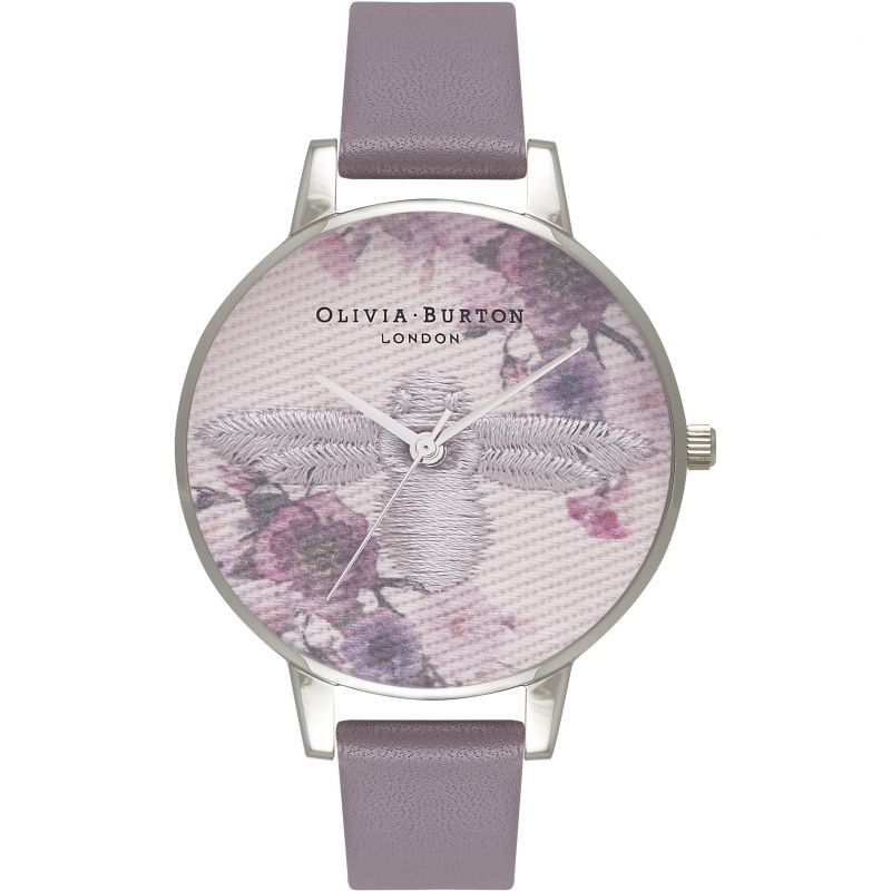 Embroidered Dial Grey Silver & London Grey Watch