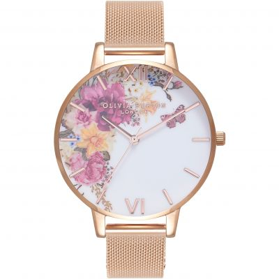 Olivia Burton Enchanted Garden Enchanted Garden Rose Gold & Rose Gold Damenuhr in Rosegold OB16EG82