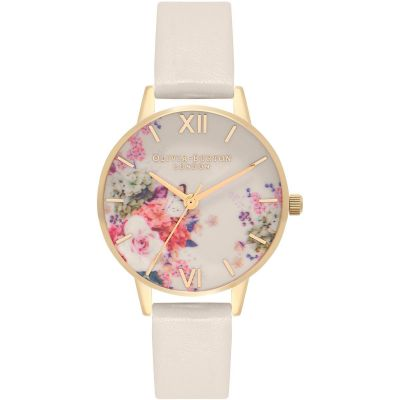 Enchanted Garden Nude & Gold Watch