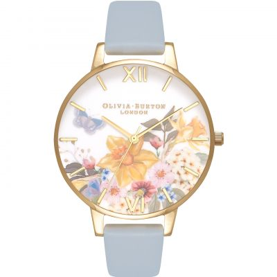 Montre Femme Olivia Burton Flower Show Rose Gold & Chalk Blue OB16FS96
