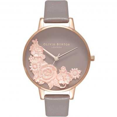 Floral Bouquet Grey Rose Gold & London Grey Watch
