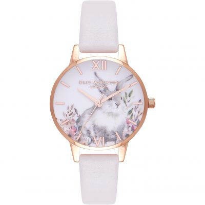 Illustrated Animals Rose Gold & Blush Watch