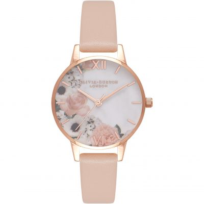 Marble Florals Rose Goldl & Nude Peach Watch
