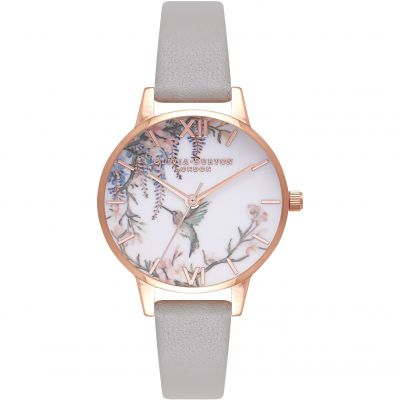 Montre Femme Olivia Burton Lace Detail Rose Gold & Grey OB16PP22