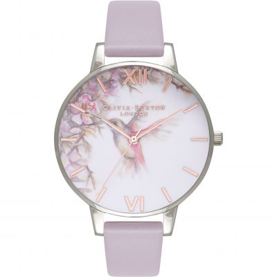 Olivia Burton Painterly Prints Painterly Prints Rose Gold & Grey Lilac Damenuhr in Lilac OB16PP23