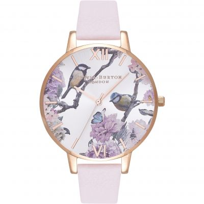 Olivia Burton Vegan Friendly Vegan Friendly Rose Gold & Blossom Damenuhr in Violet OB16PL35