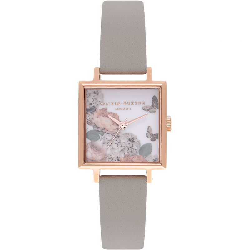 Midi Signature Floral Rose Gold And Grey Watch OB16WG41 for £82