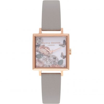 Midi Signature Floral Rose Gold And Grey Watch