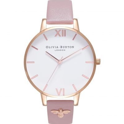 Embellished Vegan Friendly Rose Sand & Rose Gold Watch