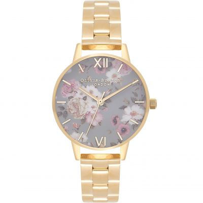 Winter Garden Big Dial Grey & Gold Watch