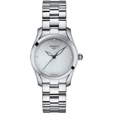 Ladies Tissot T-Wave Diamond Watch T1122101103600