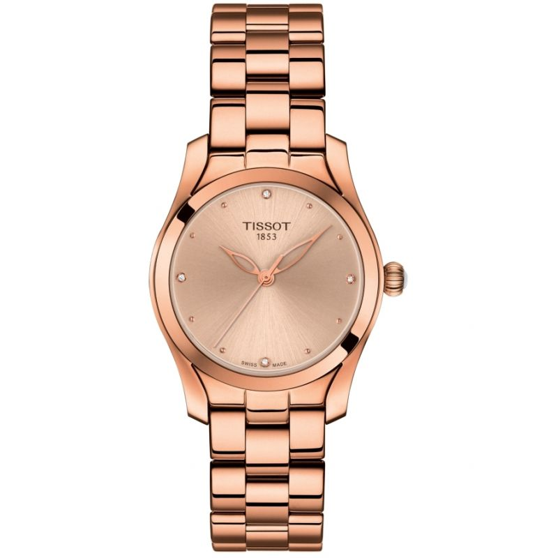 Ladies Tissot T-Wave Diamond Watch T1122103345600