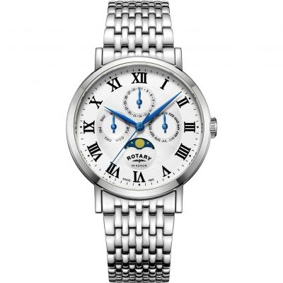 Mens Rotary Windsor Moonphase Watch GB05325/01