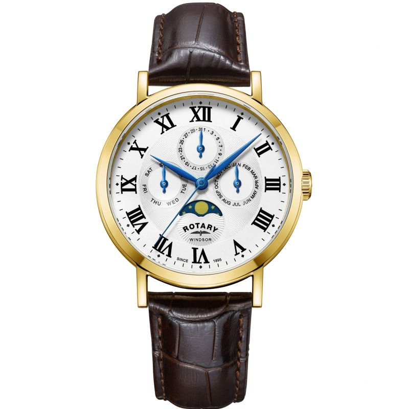 Mens Rotary Windsor Moonphase Watch GS05328/01