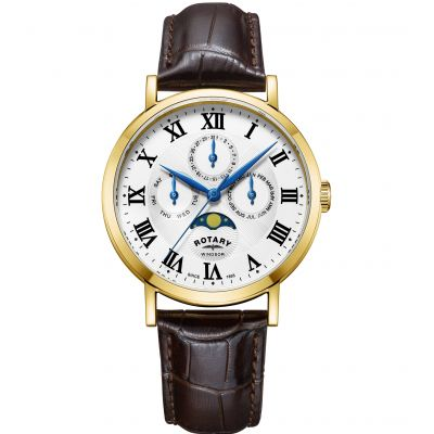 Rotary Windsor Moonphase Herenhorloge GS05328/01