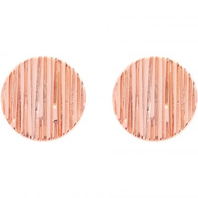 Karen Millen Textured Disc Stud Earrings KMJ1116-24-03