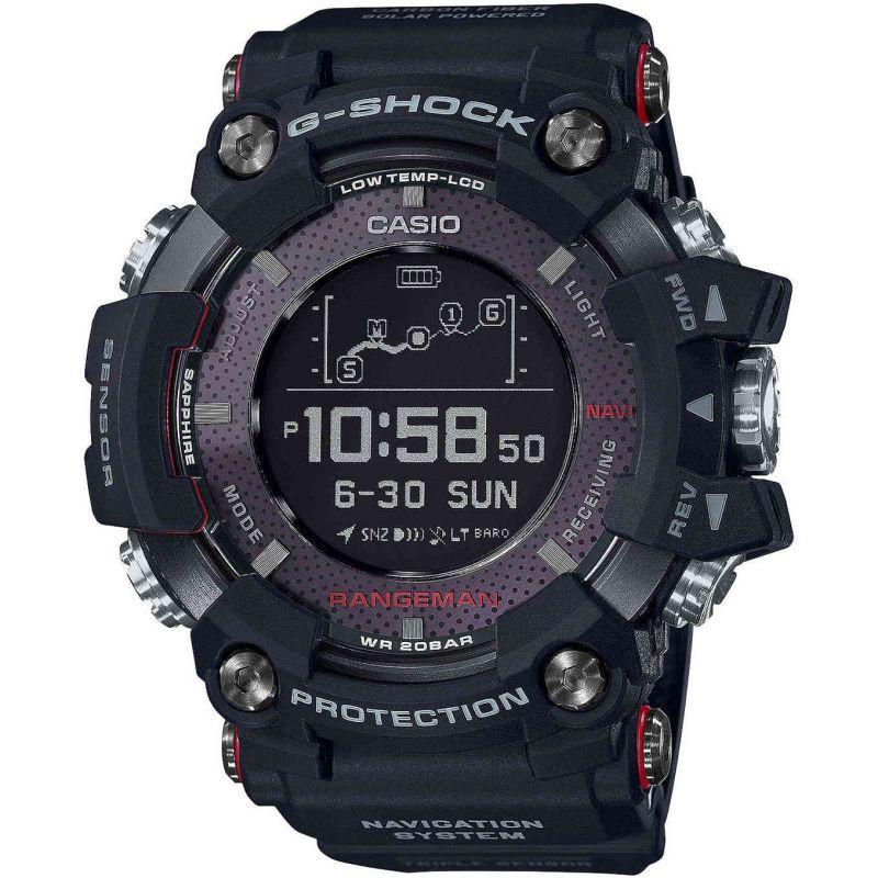 Mens Casio G-Shock Rangeman Bluetooth GPS Tough Solar Watch