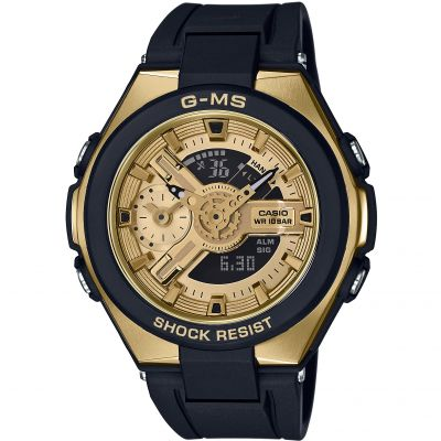 Casio G-Ms Glamorous Gold Alarm Chronograph Watch MSG-400G-1A2ER