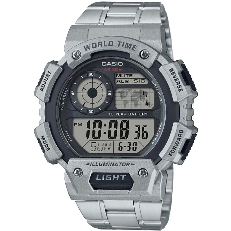 Casio Classic World Time Alarm Chronograph Watch AE-1400WHD-1AVEF