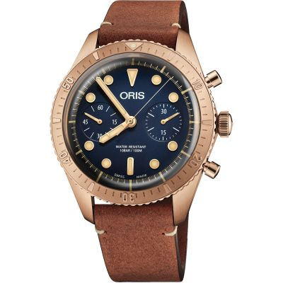 Oris Carl Brashear Limited Edition Herrenchronograph in Braun 0177177443185-SETLS