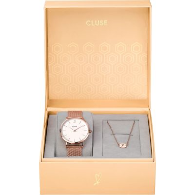 Cluse Minuit Heart Gift Set Watch CLG013
