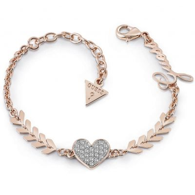 Guess Dames Cupid Bracelet Verguld Rose Goud UBB85087-L
