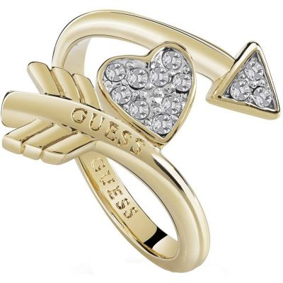 Ladies Guess Cupid Gold Ring