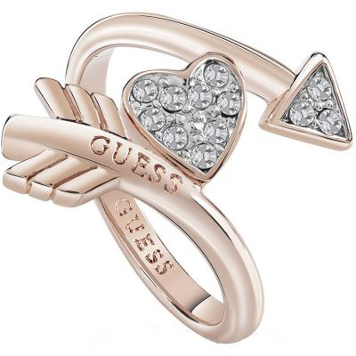 Guess Dames Cupid Ring Verguld Rose Goud UBR85014-54
