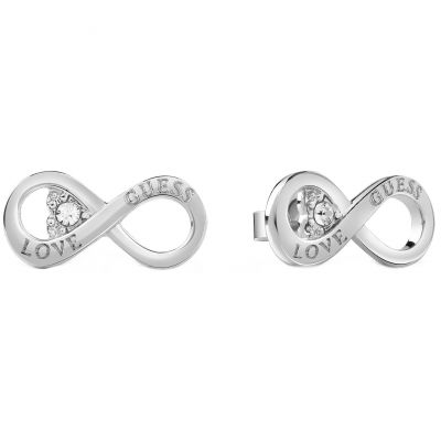 Guess Dames Endless Love Stud Earrings Verguld Zilver UBE85010