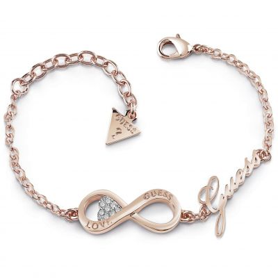 Guess Dames Endless Love Bracelet Verguld Rose Goud UBB85066-L