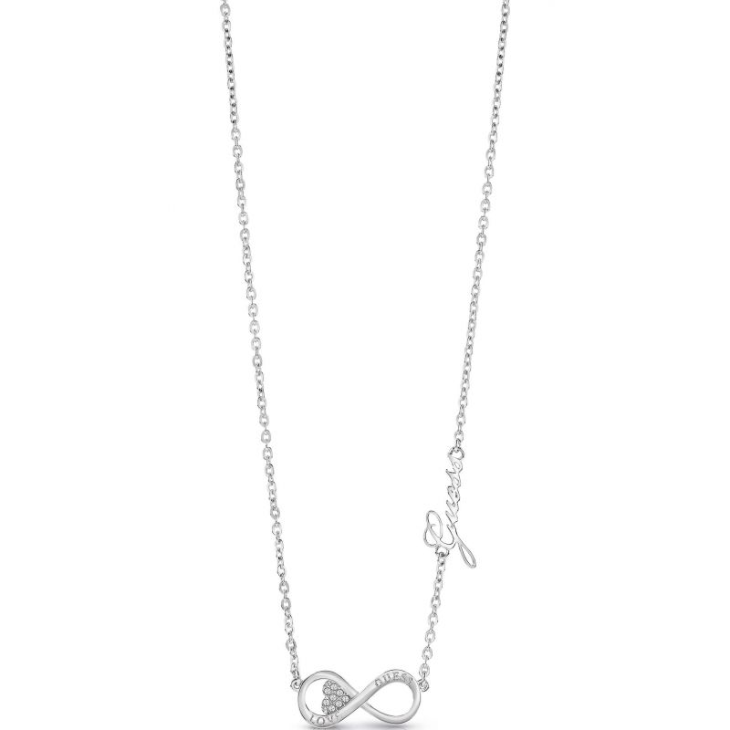 Ladies Guess Endless Love Silver Necklace