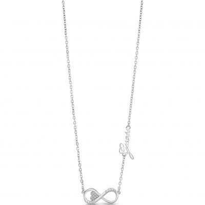 Guess Dam Endless Love Necklace Silverpläterad UBN85012