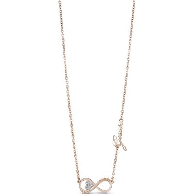 Guess Dames Endless Love Necklace Verguld Rose Goud UBN85013