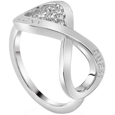 Ladies Guess Endless Love Silver Ring