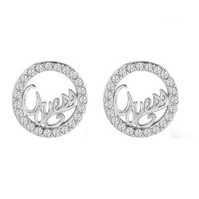 Ladies Guess Guess Authentics Silver Earrings