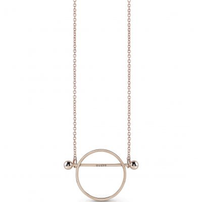 Ladies Guess Influencer Rose Gold Necklace