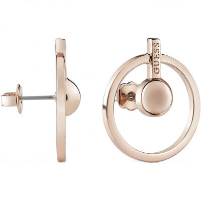 Ladies Guess Influencer Rose Gold Earrings