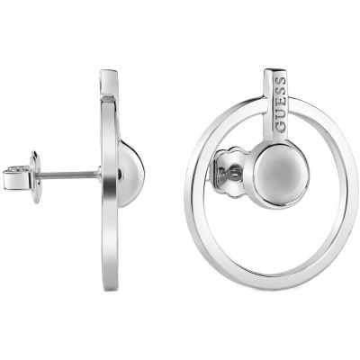 Ladies Guess Influencer Silver Earrings