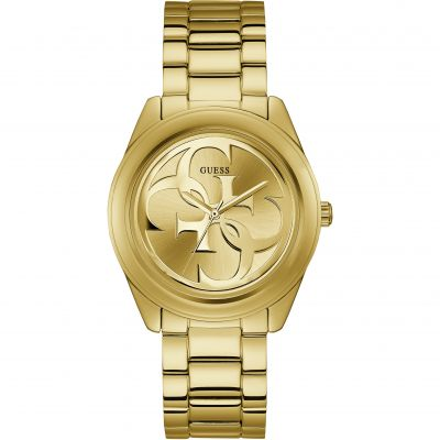 GUESS ladies gold watch with champagne dial.