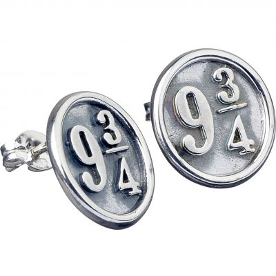 Ladies Harry Potter Sterling Silver Platform 9 3/4 Stud Earrings ES0011
