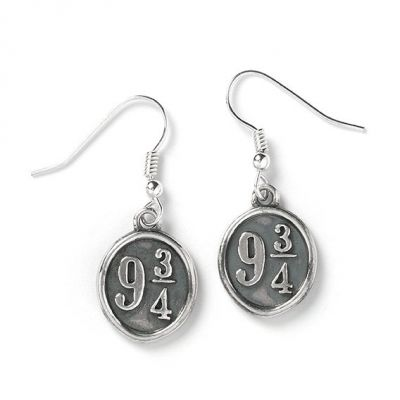 Ladies Harry Potter Sterling Silver Platform 9 3/4 Earrings HE0011
