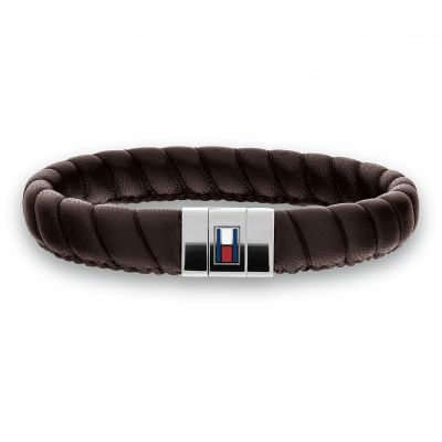 Tommy Hilfiger Leather Braided Bracelet 2701057