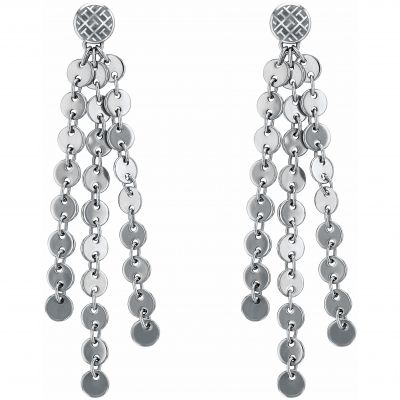 Biżuteria damska Tommy Hilfiger Jewellery Hanging Disc Earrings 2780032